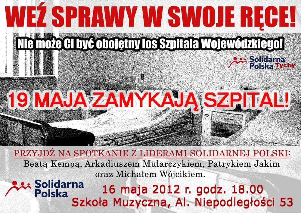 Plakat - zaproszenie dla mieszkańców Tychów!