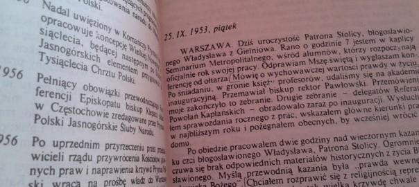 zapiski więzienne ks. kard Wyszyński