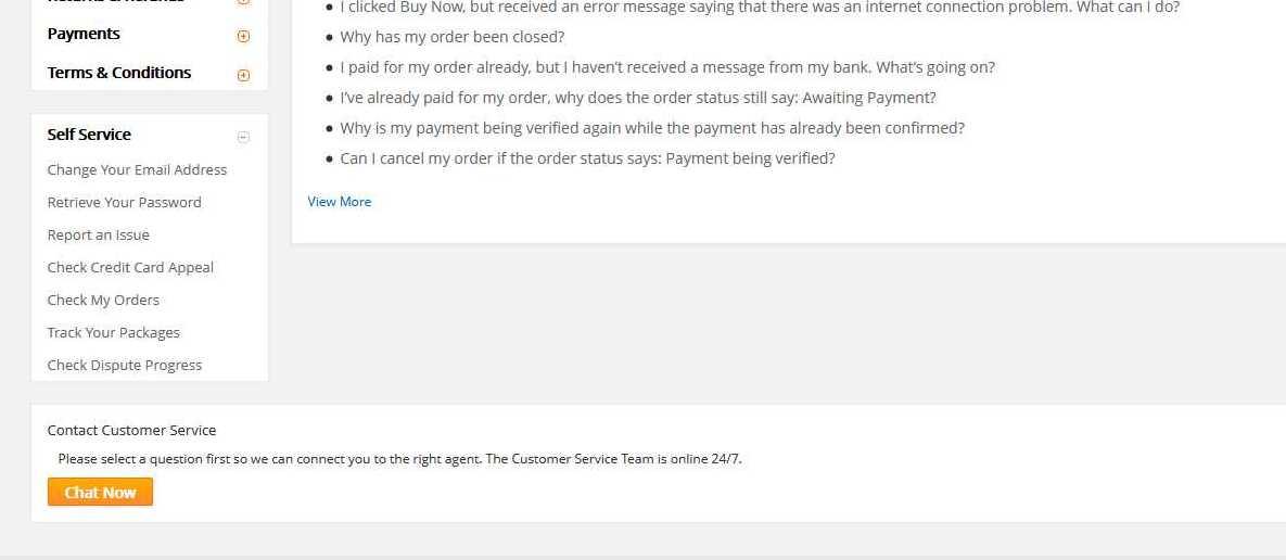 jak skontaktować się z pracownikiem AliExpress chat now