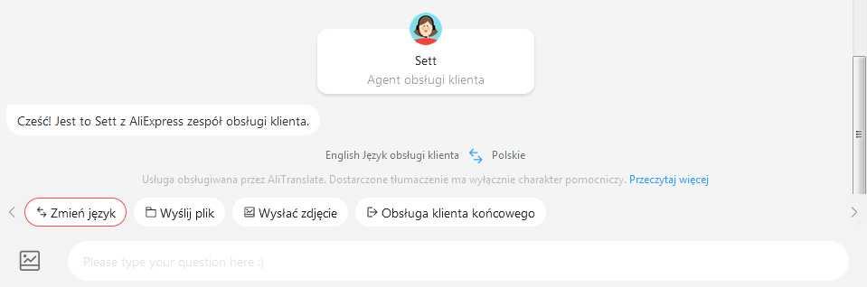 jak skontaktować się z AliExpress połączenie z pracownikiem